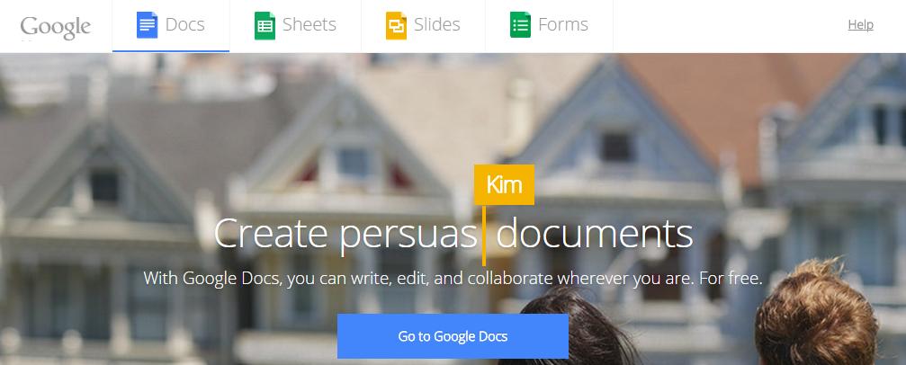 Google doc Word Processors Online