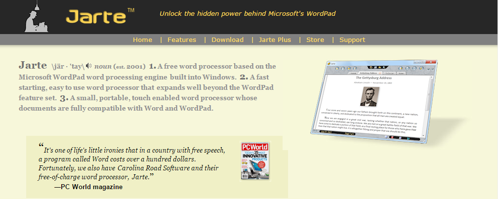 Jarte Word Processors Online